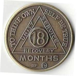 Recovery coins AA 49 Year Bronze Medallion tokens sobriety affirmation birthday